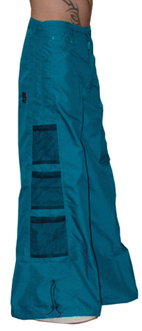 Ghast Wide  Bottom Raver Pants (Turquoise)