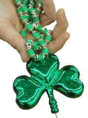 Giant Shamrock Beaded Necklace