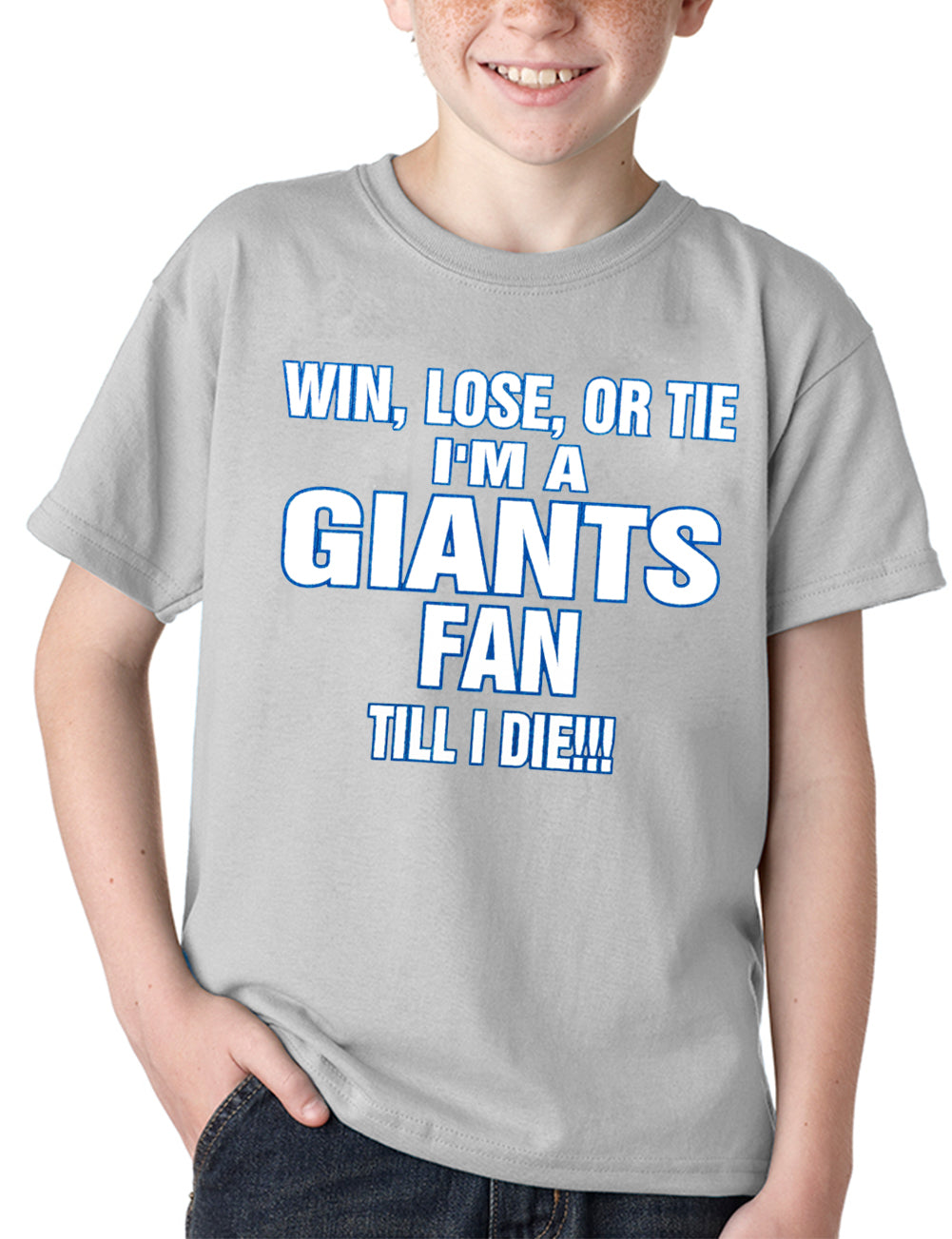 Giants Fan Till I Die Kids T-shirt