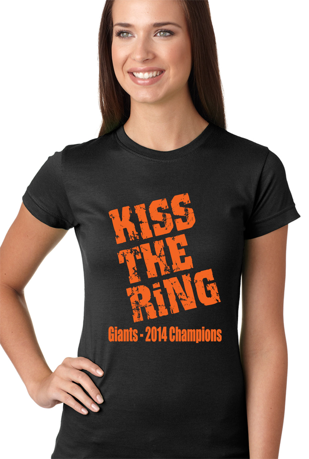 Giants Kiss The Ring 2014 Girls T-shirt