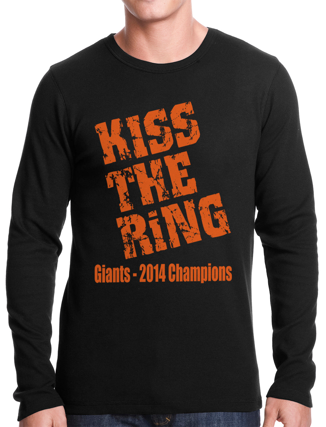 Giants Kiss The Ring 2014 Thermal Long Sleeve Shirt