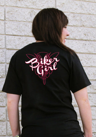 "Girls Biker Shirts - ""Biker Girl"" Girl's T-Shirt"