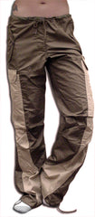 "Girls Hipster ""Elliptic"" UFO Pants (Brown/Khaki)"