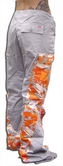 "Girls Hipster ""Elliptic"" UFO Pants (Grey/Orange Camo)"