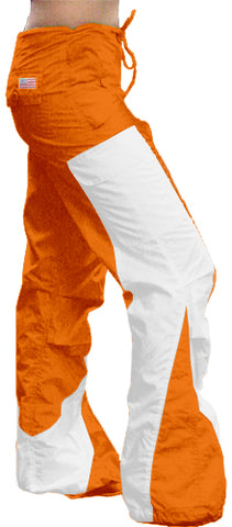 "Girls Hipster ""Elliptic"" UFO Pants (Orange/White)"