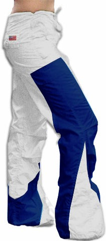 "Girls Hipster ""Elliptic"" UFO Pants (White/Blue)"
