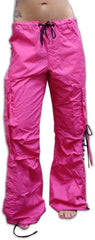 Girls Hipster Lace Up UFO Pants (Hot Pink / Black)