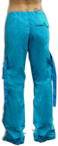 Girls Hipster Lace Up UFO Pants (Turquoise / White)