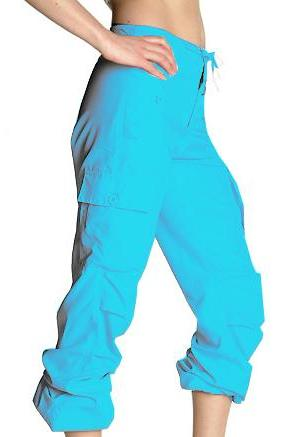 Girls Hipster UFO Pants 100% Cotton (Turquoise)