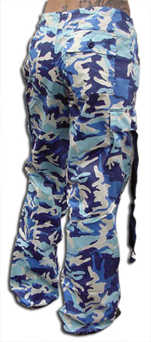 "Girls ""Hipster"" UFO Pants (Blue Camo)"