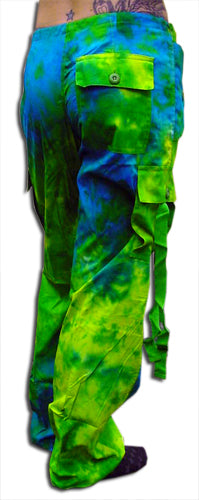 "Girls ""Hipster"" UFO Pants (Green / Blue Tie Dye)"