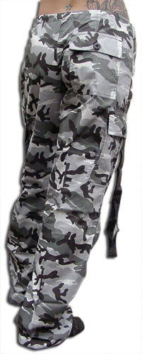 "Girls ""Hipster"" UFO Pants (Grey Camo)"
