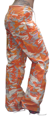 "Girls ""Hipster"" UFO Pants (Orange Camo)"