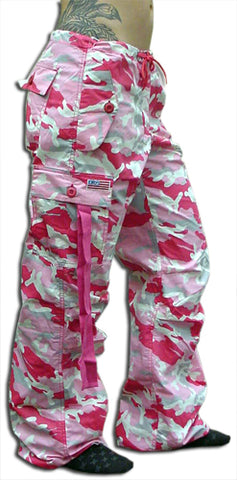 "Girls ""Hipster"" UFO Pants (Pink Camo)"