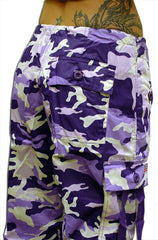 "Girls ""Hipster"" UFO Pants (Purple Camo)"