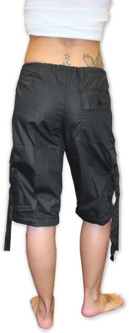 Girls Hipster UFO Pants with Zip Off Legs (Black)