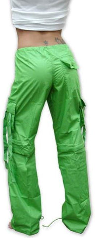 Girls Hipster UFO Pants with Zip Off Legs (Lime Green)
