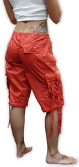 Girls Hipster UFO Pants with Zip Off Legs (Red)