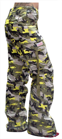 "Girls ""Hipster"" UFO Pants (Yellow Camo)"