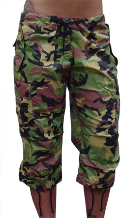 Girls UFO Hipster Shorts (Green Camo)