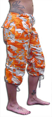 Girls UFO HIpster Shorts (Orange Camo)