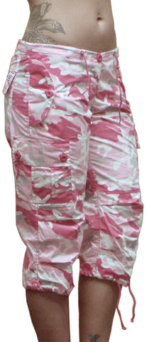 Girls UFO Hipster Shorts (Pink Camo)
