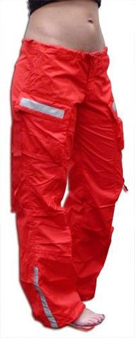 Girls UFO Reflective Hipster Pants (Red)