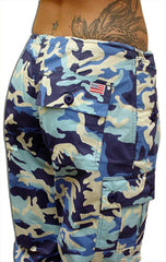 Girls UFO Shorts (Blue Camo)