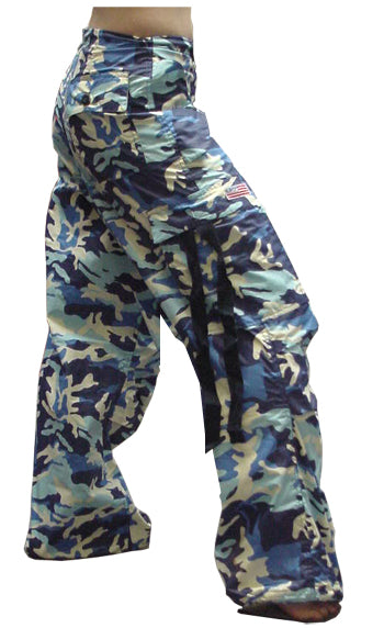 Girly Basic UFO Pants (Blue Camo)