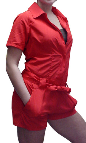 Girly UFO Hot Pant Suit (Red) On Sale!!