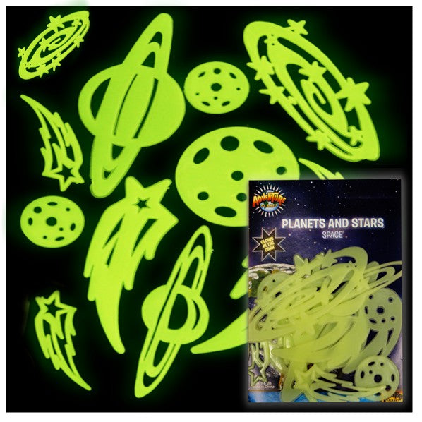 Glow in the Dark Planets and Stars (10 Piece Set)