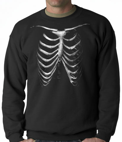 Glow In The Dark Ribcage Adult Crewneck