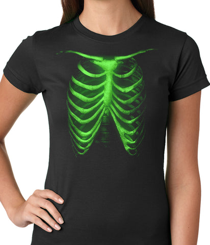 Glow In The Dark Ribcage Ladies T-shirt