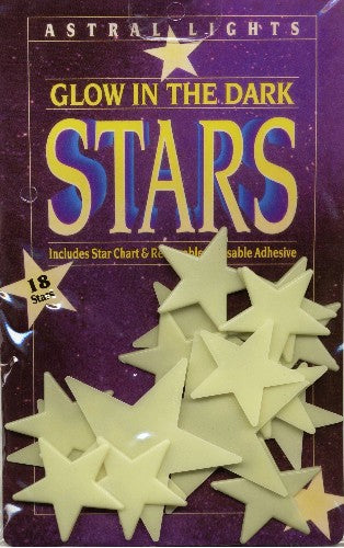 Glow in the Dark Stars - 18 Large Glow In The Dark Stars