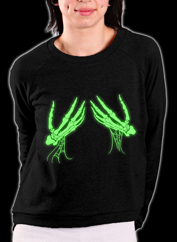 Glowing Groping Skeleton Crewneck Sweatshirt