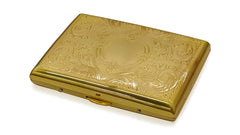 Gold Etched Cigarette Case (For Regular Size Only)