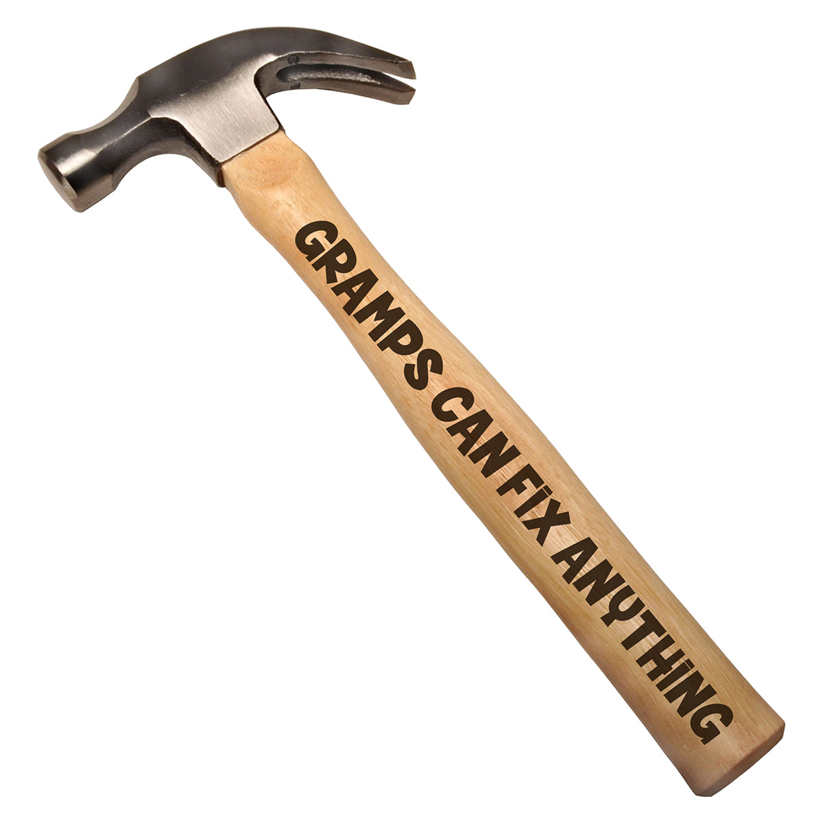 Gramps Can Fix Anything DIY Gift Engraved Wood Handle Steel Hammer