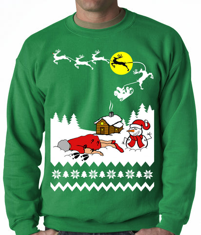Grandma Got Run Over By A Reindeer - Ugly Christmas Adult Crewneck
