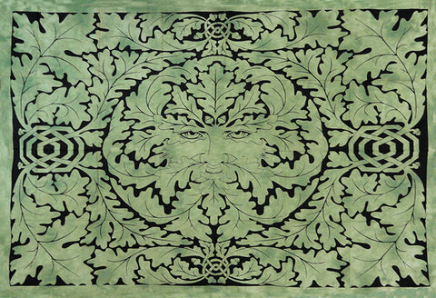 Green Man Father Nature Wall Tapestry and Bed Spread ( 55 x 85 )