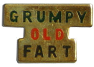 Grumpy Old Fart Lapel Pin