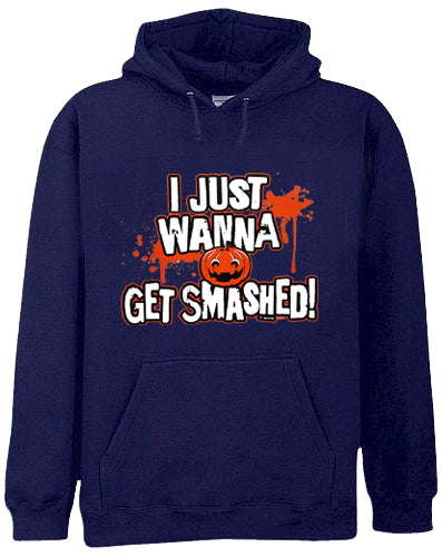 Halloween Shirts - Get Smashed Adult Hoodie