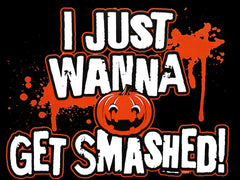 Halloween Shirts - Get Smashed Adult T-Shirt