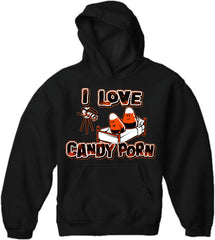 Halloween Shirts - I Love Candy Porn Adult Hoodie
