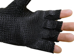 Hand Spin Pair of Fingerless Gloves For Break Dancing (Black)