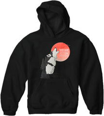 Hang Over - One Man Wolf Pack Adult Hoodie