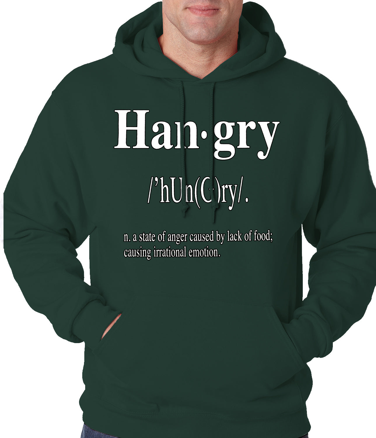 Hangry Definition Adult Hoodie