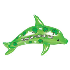 Happy St. Patrick's Day Inflatable Dolphin
