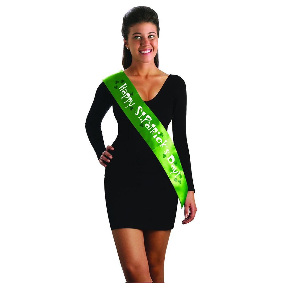 Happy St. Patrick's Day Irish Shamrock Sash