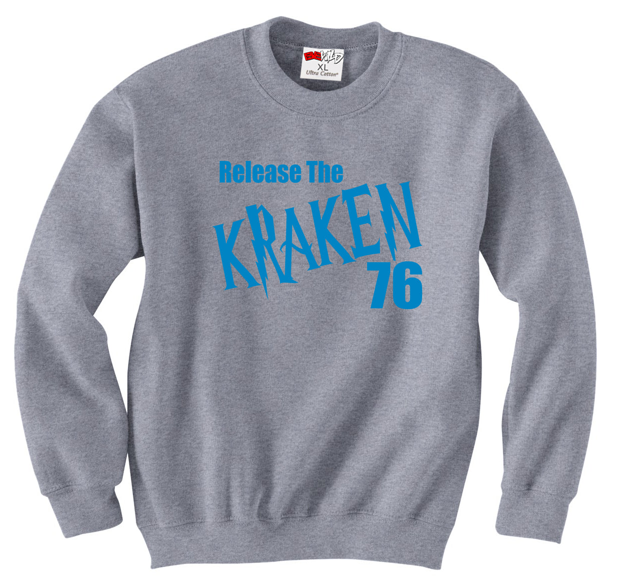 Hardy Release The Kraken Carolina  Crewneck Sweatshirt