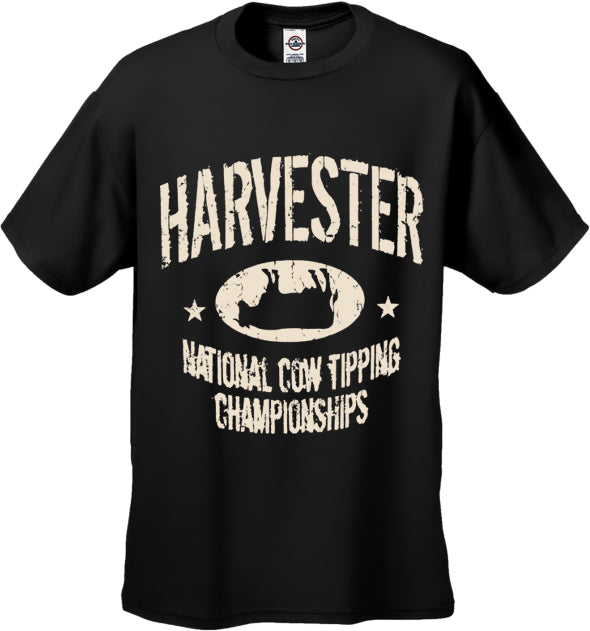 Harvester National Cow Tipping Championships Men's T-Shirt